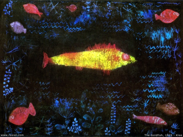 "Klee's ""The Goldfish"". Some will see this as art, others will say ""my kids could do that"". Unless you are Hans Wilhelm Klee, no, probably not."