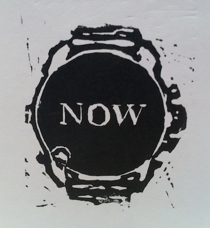 Now Print, Black, Linocut, (C) Nick Falkner, 2013