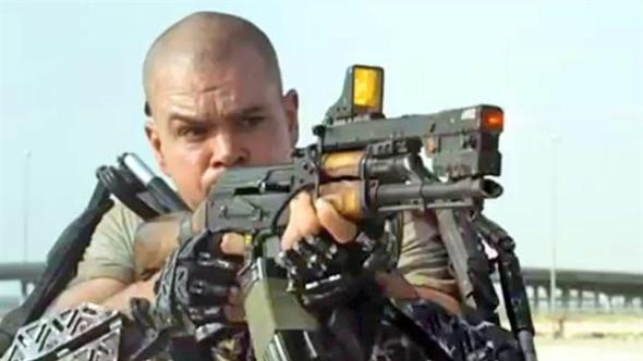 """Matt Damon demonstrating an extrinsic motivational technique called """"fear of noisy death""""."""