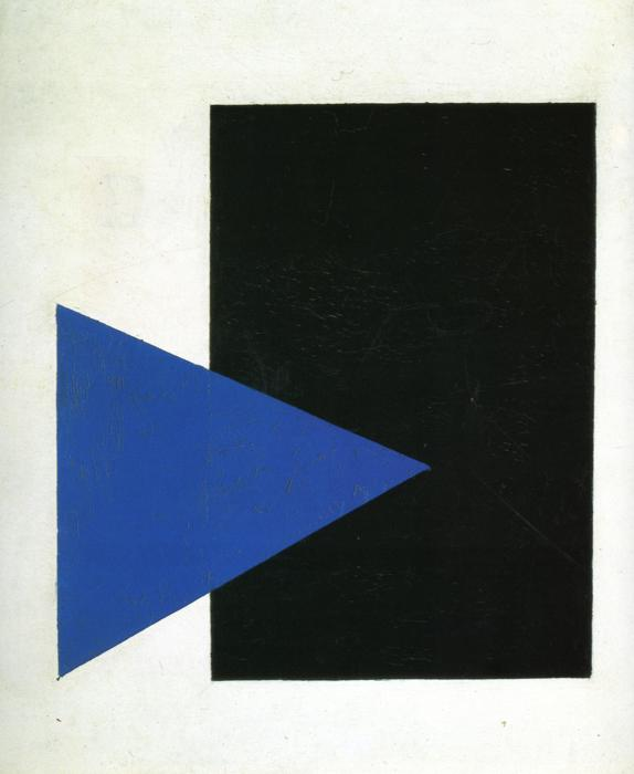 Kazimir Malevich's Suprematism with Blue Triangle and Black Square (1915).