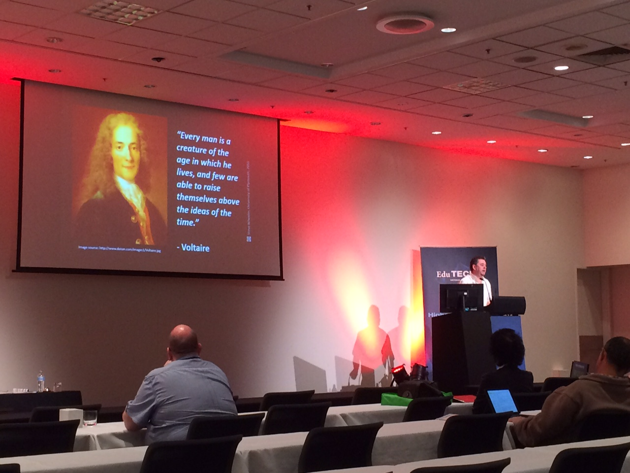 "EduTech AU 2015, Day 2, Higher Ed Leaders, ""Change and innovation in the Digital Age: the future is social, mobile and personalised."" #edutechau @timbuckteeth"