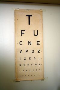 A vintage Czech eye chart.